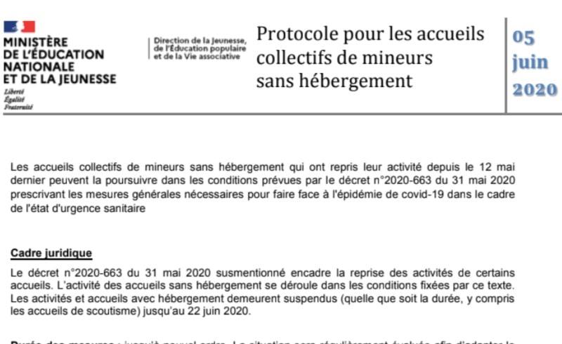 PROTOCOLE DE REOUVERTURE DES ACM